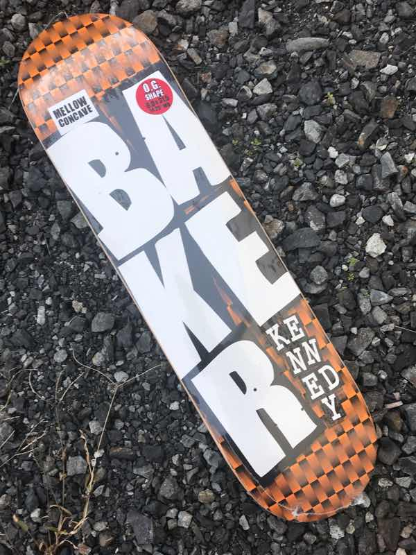 【BAKER】Terry Kennedy STACKED ORG CHECKERS Deck 8.0x31.5 MELLOW concave Skateboard Deck ベーカー スケートボード デッキ