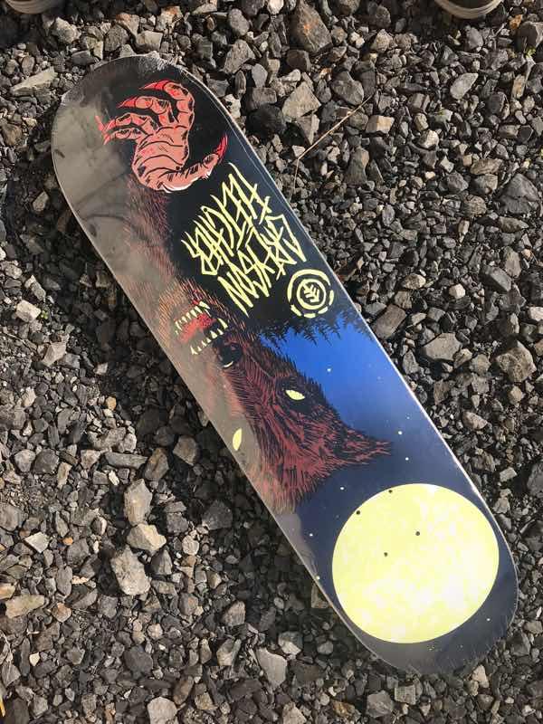 【Element 】FEATHER LIGHT Greyson Fletcher Wolf Man Deck 8.0x32.0625 Skateboard Deck エレメント スケートボード デッキ