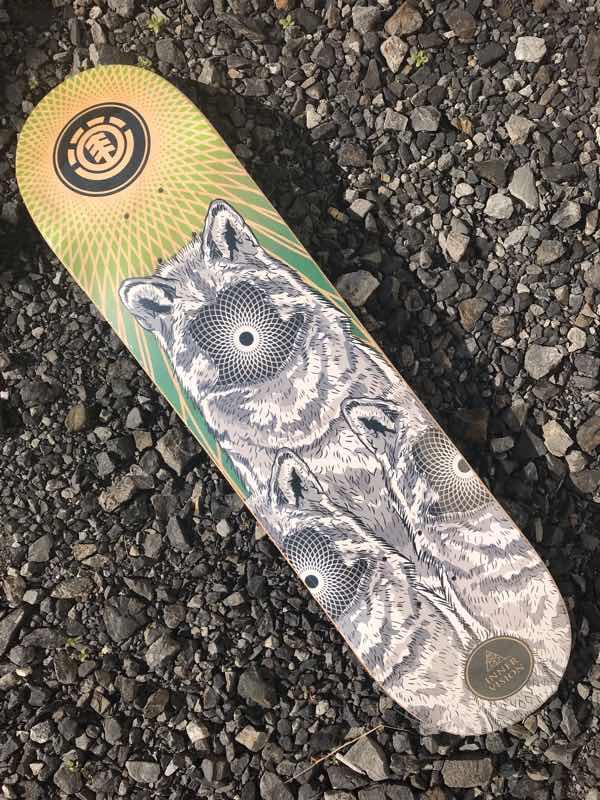 【Element 】FEATHER LIGHT Inner Vision Deck 7.75x31.7  Skateboard Deck エレメント スケートボード デッキ