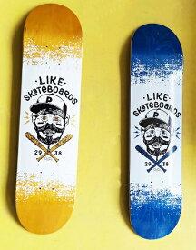 【like 】7.75×31.3 full concave Skateboard Deck likeスケートボードショップオリジナル スケートボード デッキ カナディアンメイプル 7PLY EPOXY RESIN Glue