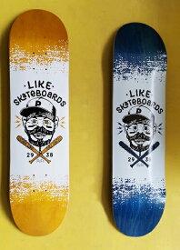 【like 】8.0×31.8 full concave Skateboard Deck likeスケートボードショップオリジナル スケートボード デッキ カナディアンメイプル 7PLY EPOXY RESIN Glue