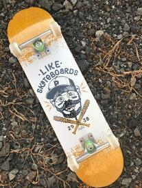 【like 】コンプリート7.75×31.3/ 8.0×31.8 full concave Skateboard Deck likeスケートボードショップオリジナル スケートボード デッキ カナディアンメイプル 7PLY EPOXY RESIN Glue