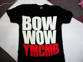BOW WOW YMCMB ON BLACK MENS  〜ヤング・マネー/キャッシュ・マネー・ビリオネアズ Tシャツ