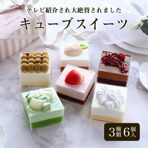 【テレビ紹介】「キューブ スイーツ 3種類6個セット」キューブ型スイーツ・ケーキ ミニケーキ カップケーキ 冷凍ケーキ ミニ 詰め合わせ おしゃれ かわいい 可愛い インスタ映え お取り寄