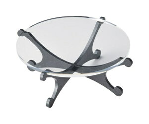 パピヨン ケーキスタンド ブラック越前塗木製の脚とアクリル板で作るミニテーブルテーブルコーディネートに大活躍するセンターアイテム。テーブルウェア・おもてなしアイテム 贈答
