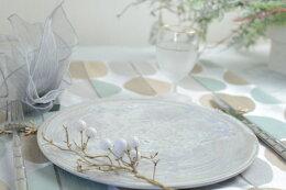 大堀相馬焼 京月窯 紫彩 プレート 丸皿 うつわ 贈答品 プレゼント テーブルウェア おもてなし おうちごはん 日本製