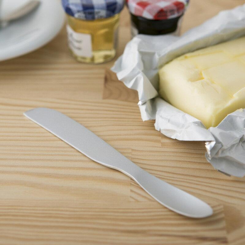 【安心メーカー貝印】【普通郵便送料無料】FA5155 手の熱で溶かして切れる バターナイフ 熱伝導 溶かす 溶ける アルミ 体温で溶ける バター削り とろける ふわふわ