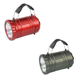 【送料無料】ランタン 懐中電灯 ライト キャンプ 電池式 テント アウトドア 携帯 併用 防災 アクトライトプラス レッド ガンメタ FIN-770GM RE