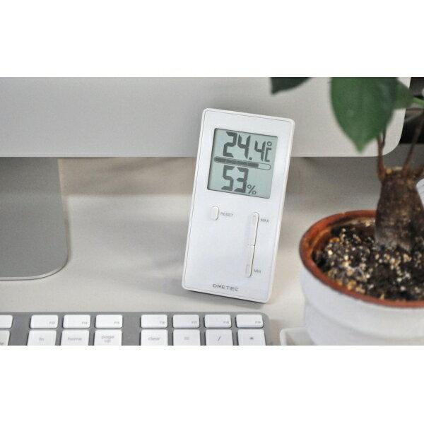 【普通郵便送料無料】ドリテック 室内温度計 レクタ 湿度計 温湿度計 最低 最高 温度 湿度 O-237PK O-237WT
