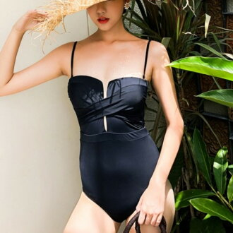 Cross design tube top base-up dress swimwear