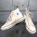 【 CONVERSE / コンバース 】 CANVAS ALL STAR J HI [NATURAL WHITE] / キャンバス オールスター J HI CHUCK TAYLOR / チャックテイラ…