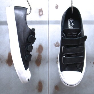 JACK PURCELL V-3 LEATHER/杰克珀塞尔V-3皮革[BLACK/黑色]02P09Jan16
