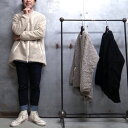 【 FARFIELD / ファーフィールド 】 ROUND BOTTOM COAT / ラウンド ボトム コート フリース カラーレス コート イギリス製 ◆ 日本正規…