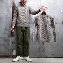 【 INVERALLAN / インバーアラン 】 1A CREW NECK SWEATER / クルー ネック セーター [ BRACKEN / 杢グレージュ ] アラン セーター …