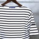 【 SAINT JAMES / セントジェームス 】 PIRIAC / ピリアック ボーダー 半袖 Tシャツ◆ NEIGE×NOIR [ホワイト×ブラック] 日...