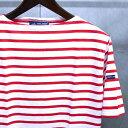 【 SAINT JAMES / セントジェームス 】 PIRIAC / ピリアック ボーダー 半袖 Tシャツ ◆ NEIGE×TULIPE [ホワイト×レッド] 日本正規代…