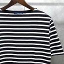 【 SAINT JAMES / セントジェームス 】 PIRIAC / ピリアック ボーダー 半袖 Tシャツ ◆ NOIR×NEIGE [ブラック×ホワイト] 日本正規代…
