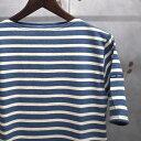 【 SAINT JAMES / セントジェームス 】 PIRIAC / ピリアック ボーダー 半袖 Tシャツ ◆ JEAN×CHANVRE [インディゴ×霜降りベージュ] …