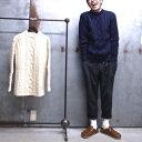 【 Guernsey WOOLLENS / ガンジーウーレンズ 】 GW1007 Crew Aran Sweater クルー アラン セーター アランニット クルーネックセーター…