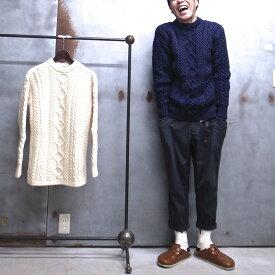 【 Guernsey WOOLLENS / ガンジーウーレンズ 】 GW1007 Crew Aran Sweater クルー アラン セーター アランニット クルーネックセーター MADE IN GUERNSEY BRITISH ISLES