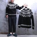 【 ARTESANIA / アルテサニア 】 801 FAIRISLE CREW KNIT / フェアアイル クルーネック セーター ノルディック セーター 日本別注商品