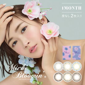 Miche Bloomin ミッシュブルーミン ワンマンス 14.0mm 度なし 1month 2枚 カラコン ワンマンス 1ヶ月使い捨て ワンマンスカラコン カラーコンタクト カラーコンタクトレンズ 送料無料