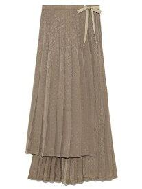 [Rakuten Fashion]【SALE/40%OFF】ジャガードプリーツラップスカート Lily Brown リリーブラウン スカート スカートその他 ブラウン パープル【RBA_E】【送料無料】