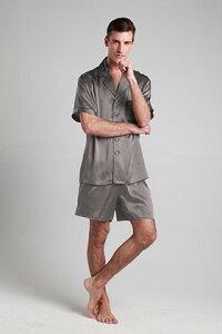 シルク パジャマ メンズ ナイトウエア ルームウエア 寝間着 XS/S/M/L/2L/3L 22匁シルク メンズ 男性 紳士服 北欧 リリーシルク 高品質シルク100% 折り襟 美肌効果・保湿効果 快眠 プレゼント ギフ