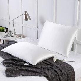 枕 シルク シルク枕 真綿 ピロー 低めタイプ 50×70cm 1キロ 安眠枕 無添加 低い枕 まくら 肩こり リリーシルク プレゼント ギフト 送料無料