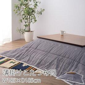 東谷 薄掛けこたつ布団 バンダナ柄 正方形 185×185cm