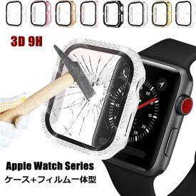 Apple watch ケース PC メッキ加工 Series6 SE series5 series1 series2 series3 Series4 44mm 40mm 42mm 38mm apple watch カバー ガラスフィルム 一体型 上質 傷防止 保護フィルム おしゃれ アップルウォッチ カバー 高品質 耐衝撃 保護カバー 高級感 クリアケース 透明