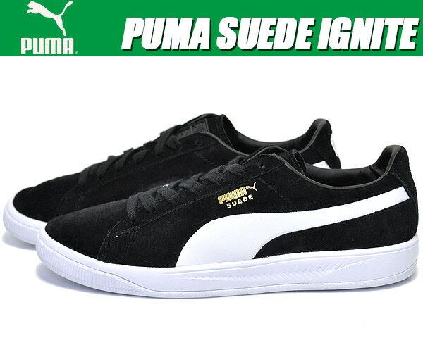 お得な割引クーポン発行中!!PUMA SUEDE IGNITE puma black/puma white【スウェード イグナイト プーマ スニーカー スエード】