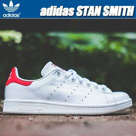 adidas STAN SMITH wht/red【メンズ レディース スニーカー アディダス スタンスミス シューズ レザー ホワイト レッド】