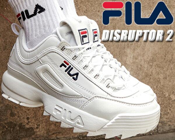FILA DISRUPTOR 2 white 【フィラ ディスラプター 2 DAD SHOE ダッド シューズ 厚底 スニーカー メンズ