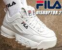 FILA DISRUPTOR 2 white 【フィラ ディスラプター 2 DAD SHOE ダッド シューズ 厚底 スニーカー メンズ レディース ウィメンズ ホワイト 白 FS1HTA1071X