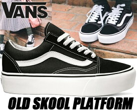 VANS OLD SKOOL Platform black/white 【バンズ スニーカー オールドスクール プラットフォーム 厚底 スニーカー レディース JAZZ ブラック ホワイト】