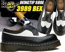 Dr.Martens 3989 BROGUE SHOE BEX 34 F black&white 【ドクターマーチン Bex 3989ブローグ ブラック ホワイト ツートンカラー ウィングチップ ブロ