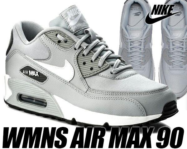 NIKE WMNS AIR MAX 90 wolf grey/white-dark grey 【ナイキ エアマックス 90 ウィメンズ レディース メンズ スニーカー エア マックス 90 シルバー グレー】