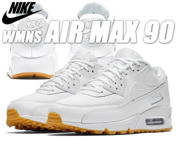 NIKE WMNS AIR MAX 90 white/white-gum-light brown 325213-135 ナイキ ウィメンズ エアマックス 90 レディース スニーカー エア マックス 90 ホワイト ガム