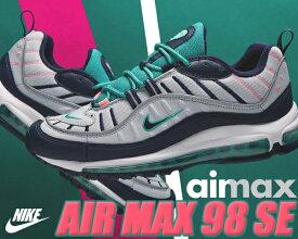 NIKE AIR MAX 98 pure platinum/obsidian-k.grn 【ナイキ エアマックス 98 スニーカー エア マックス 98 メンズ ランニングシューズ】