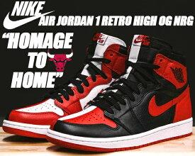 """NIKE AIR JORDAN 1 RETRO HIGH OG NRG """"HOMAGE TO HOME"""" black/university red-white 【ナイキ エアジョーダン 1 OG NRG スニーカー AJ BRED CHICAGO BULSS RED】"""