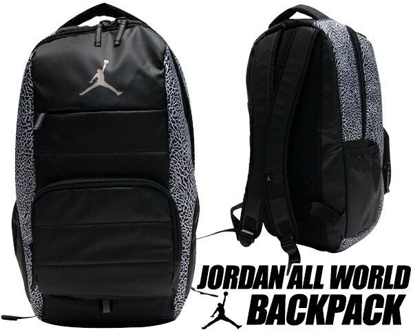 【ナイキ ジョーダン バックパック】NIKE JORDAN ALL WORLD BACK PACK blk/wht【リュック カバン バッグ PCスリーブ】