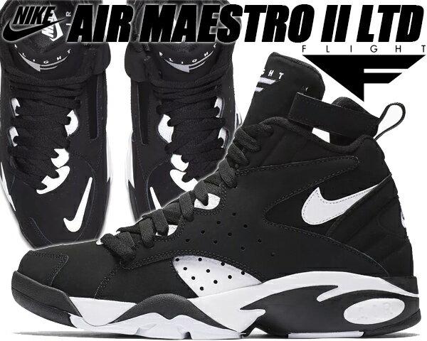 NIKE AIR MAESTRO II LTD black/white 【ナイキ エア マエストロ 2 LTD スニーカー スコッティ ピッペン エアマエストロ エア フライト メンズ ブラック】