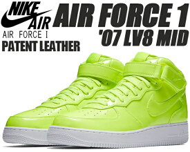 low priced 64cff 86489 NIKE AIR FORCE 1 MID  07 LV8 UV volt volt-white ナイキ