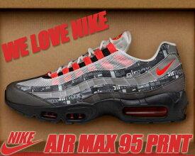 """NIKE AIR MAX 95 PRNT """"WE LOVE NIKE"""" black/bright crimson 【ナイキ エアマックス 95 スニーカー メンズ we love nike シューズボックス】"""
