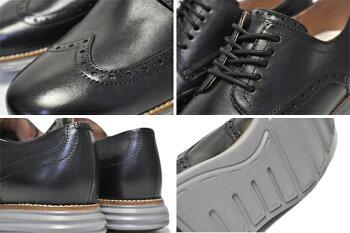 COLEHAANORIGINALGRANDSHWNGblack/ironstone【コールハーンメンズ靴走れるビジネスシューズカジュアルシューズドレスシューズブラウンウイングチップ】