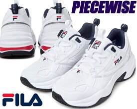 FILA PIECEWISE white/navy 【フィラ ピースワイズ スニーカー フィラ ホワイト ネイビー メンズ レディース ウィメンズ FS1SIA3281X WNV】