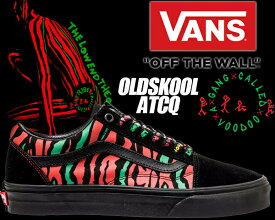 "VANS OLD SKOOL ATCQ ""A Tribe Called Quest"" black【バンズ オールドスクール スニーカー ア・トライブ・コールド・クエスト JAZZ The Low End Theory ヴァンズ メンズ VN0A38G1Q4B】"