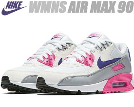 NIKE WMNS AIR MAX 90 white/court purple-wolf grey 325213-136 ナイキ ウィメンズ エアマックス 90レディース スニーカー