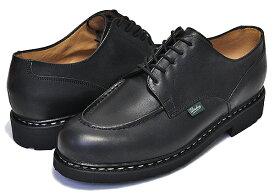 PARABOOT CHAMBORD/TEX made in France NOIRE-LIS NOIR パラブーツ シャンボード ノアール ブラック メンズ 靴 Uチップモカ レザー シューズ カジュアル ブーツ